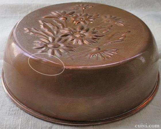 アンティーク_フラワー_花_コッパーモールド_焼き型_菓子型_ケーキ型_銅