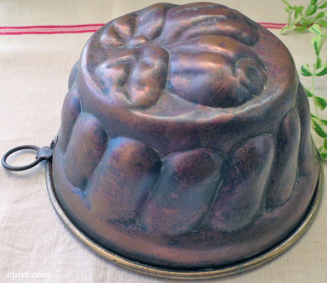 アンティーク_ フルーツ_コッパーモールド_焼き型_菓子型_ケーキ型_銅