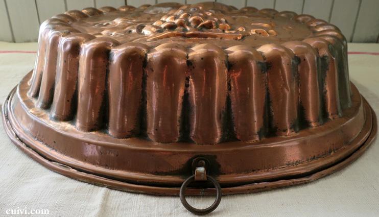 アンティーク_葡萄_フルーツ_コッパーモールド_焼き型_菓子型_ケーキ型_銅