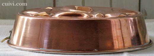 アンティーク_フルールドリス_コッパーモールド_焼き型_菓子型_ケーキ型_銅