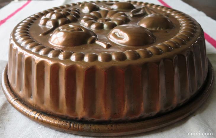 アンティーク_フルーツ_コッパーモールド_焼き型_菓子型_ケーキ型_銅