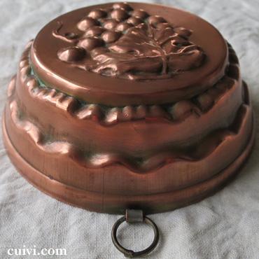 アンティーク_コッパーモールド_焼き菓子型_ケーキ型_銅_葡萄