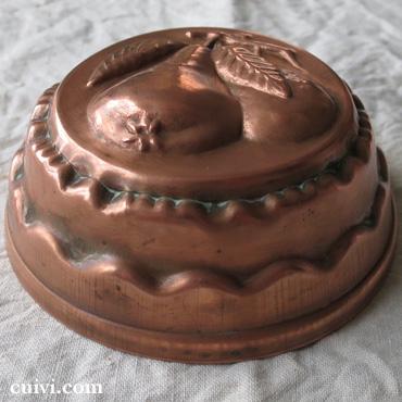 アンティーク_コッパーモールド_焼き菓子型_ケーキ型_銅_ラフランス